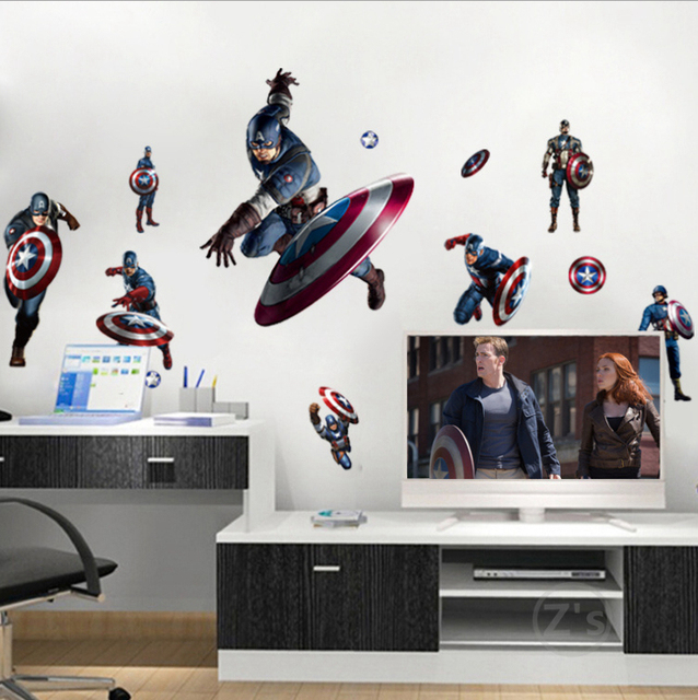 Zs Sticker Captain America Steven Rogers Marvel Wall Sticker Home Decor Wall  Decal Home Decor Captain