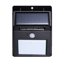 LED Solar Lamp Waterproof PIR Motion Sensor Light Power Garden Outdoor ABS Wall Wireless