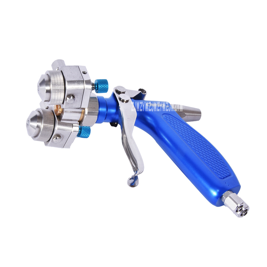 Spray Gun Automatic Double Head Paint Spray Gun with Anti-corrosion 316 Stainless Steel high efficiency Air paint sprayer gun sat1468 st 6l automatic spray gun high quality automatic spray for food medicine texitile industry