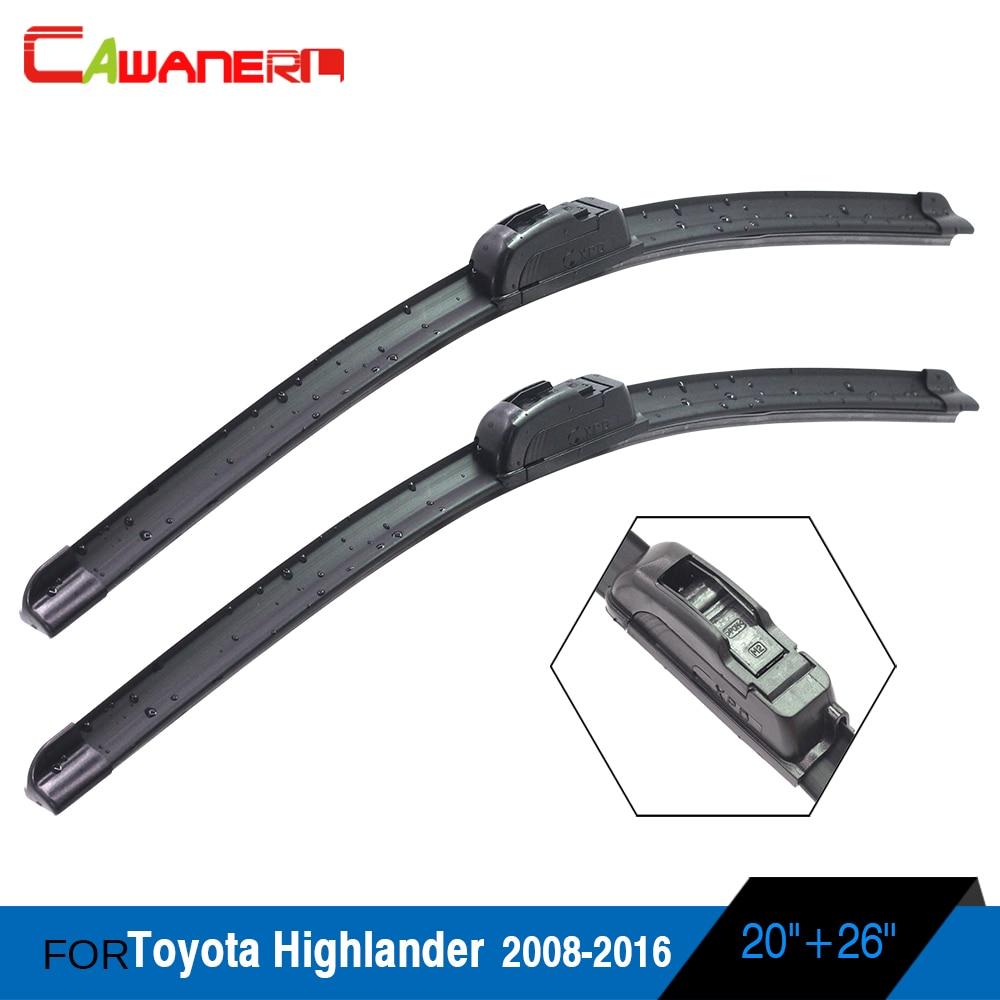 Cawanerl Vehicle Windscreen Wiper Blade Car Soft Rubber Frameless Windshield Wiper For Toyota Highlander 2008-2016