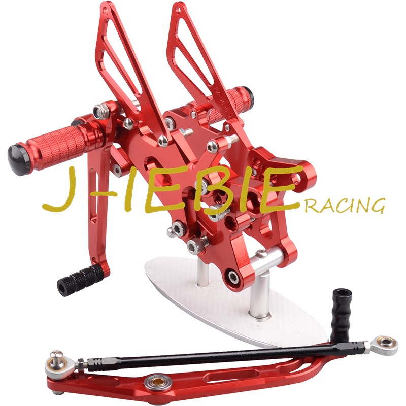 CNC Racing Rearset Adjustable Rear Sets Foot pegs Fit For Yamaha YZF R6 2006 2007 2008 2009 2010 2011 2012 2013 2014 RED free shipping motorcycle parts silver cnc rearsets foot pegs rear set for yamaha yzf r6 2006 2010 2007 2008 motorcycle foot pegs