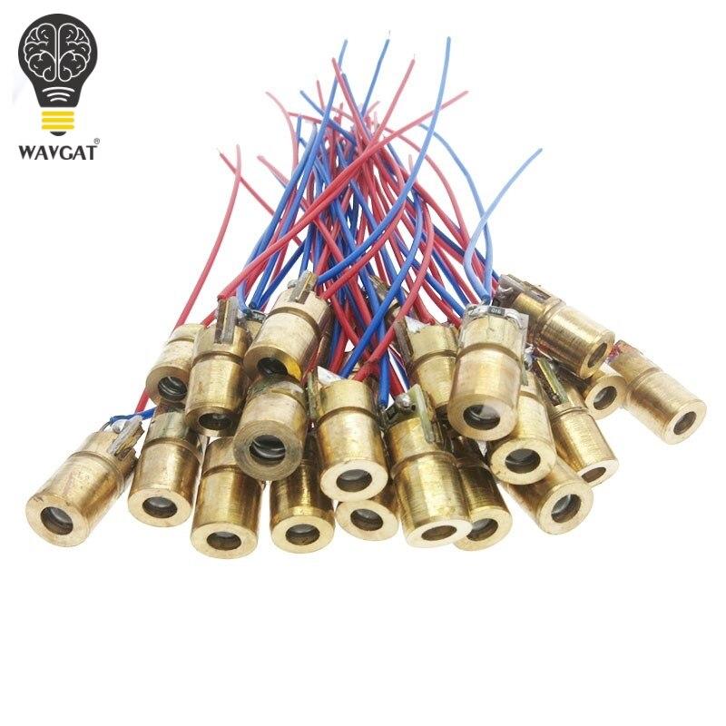 WAVGAT 5V 650nm 5mW Adjustable Laser Dot Diode Module Red Sight Copper Head Mini Laser Pointer