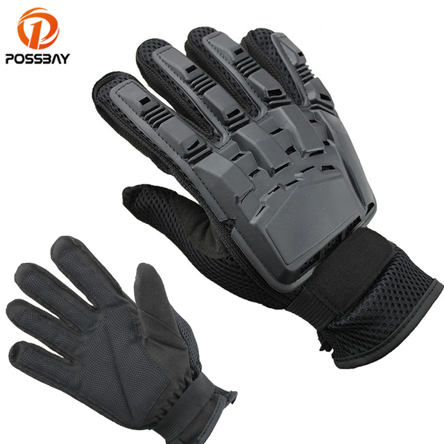 d65de0f796e POSSBAY Retro Motorcycle Gloves Motorcross Dirt Racing Offroad ATV Riding  Cycling Full Finger Vintage Scooter Moto