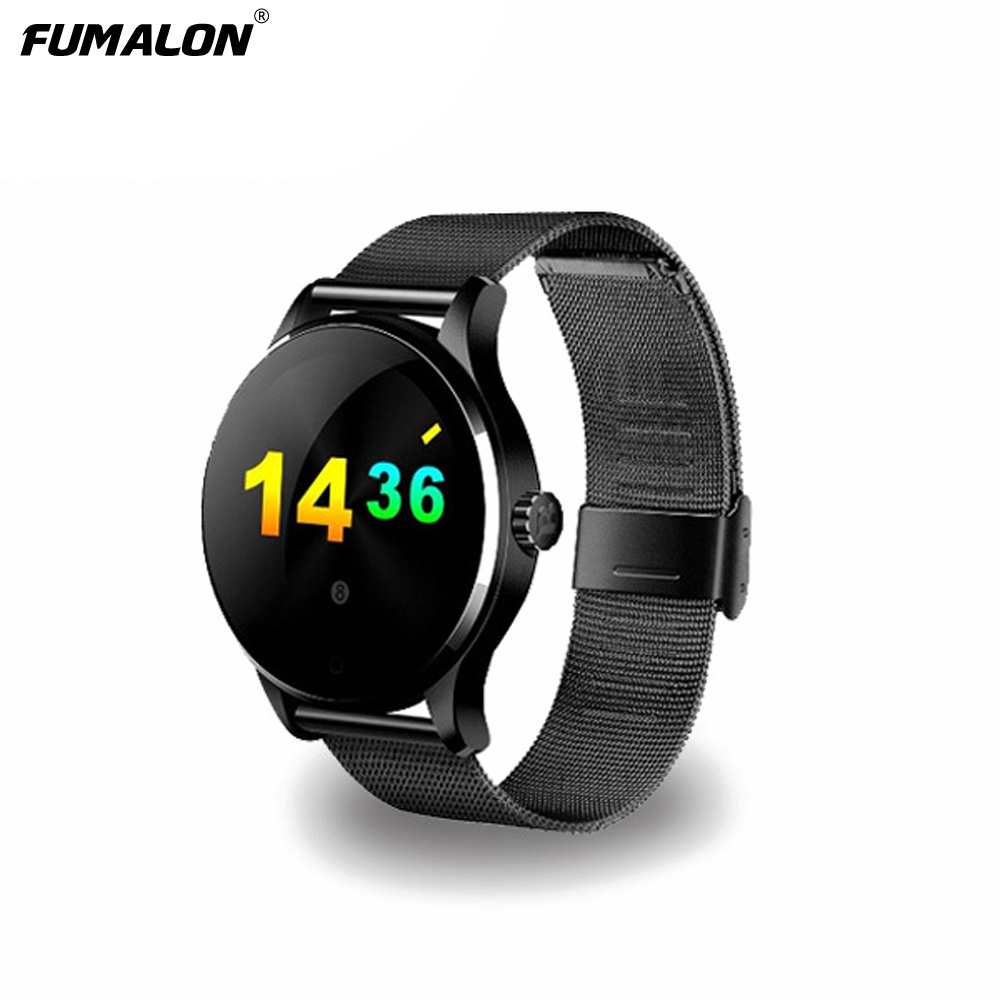 K88H Smart Watch 1.22 Inch IPS Round Screen Support Sport Heart Rate Monitor Bluetooth SmartWatch For Apple Huawei IOS Android все цены