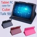 Original Cube Discussão 9X Utra Fino Estojo De Couro Da Aleta para CubeTalk 9X2014 Nova 9.7 polegada Tablet PC, Cube Discussão 9X caso