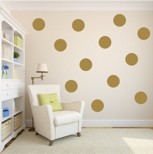 simple shape wall stickers dot dot wall decal - Simple Shapes Wall Design