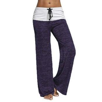 Cordón recto pantalones ocasionales más tamaño S-3XL sólido mujeres  pantalones primavera verano Pantalones sueltos pantalones largos pierna  ancha GV522 5924ef35369