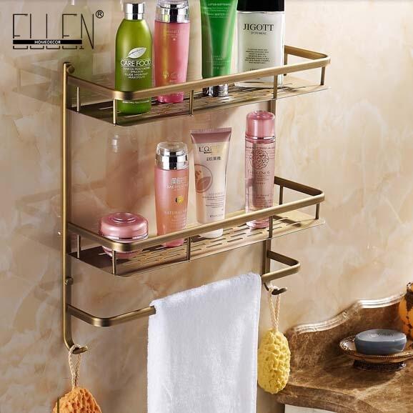 Ванная комната под старину полки для душа Ванная комната держатель для хранения полки для ванной