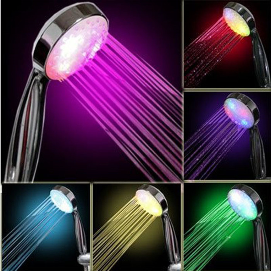 Lovely Pet New 7 Color LED Romantic Light Bright Water Bath Home Bathroom Shower Head Glow Shower head New drop shipping 70705 цена