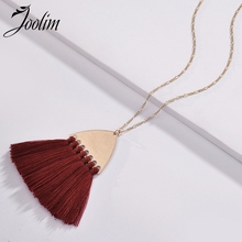 Joolim Trendy Triangle Tassel Pendant Necklace Design Vintage