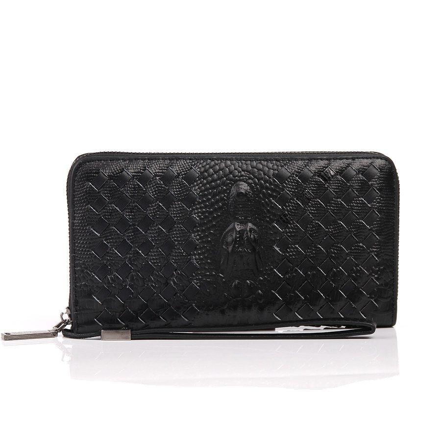notecase couro genuíno de negócio Composição : Genuine Leather