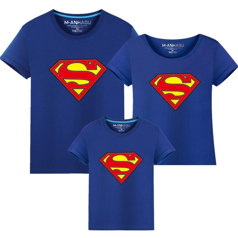 1 st Hot Superman Familj Matchande T-shirts Kvalitet Bomull Sommar - Barnkläder - Foto 2