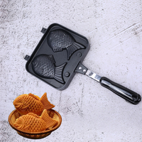 Fish Shaped Bakeware Waffle Pan Maker 2 Cast Home Cake Tools