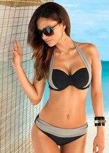 2016 Cintura Baja Bikini Push Up traje de Baño Traje de Baño Femenino Conjunto ropa de Playa Verano de Las Mujeres