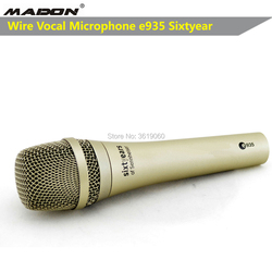 Free shipping, e935 sixtyear chrome color wired dynamic cardioid professional vocal sennheisertype microphone