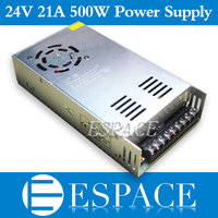 Best Quality 24V 21A 500W Switching Power Supply Driver For LED Strip AC 100 240V Input