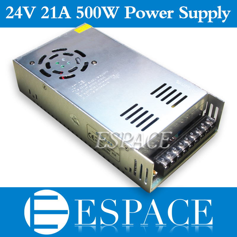 Best quality  24V 20A 480W Switching Power Supply Driver for LED Strip AC 100-240V Input to DC 24V free shipping 24v 20a power supply adapter ac 96v 240v transformer dc 24v 500w led driver ac dc switching power supply for led strip motor