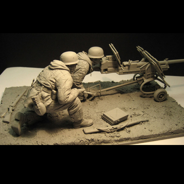 1/16 Resin Figure Soldier Model Suite for The War Artillery In The Eastern War cold war the