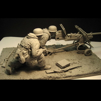 1/16 Resin Figure Soldier Model Suite for The War Artillery In The Eastern War