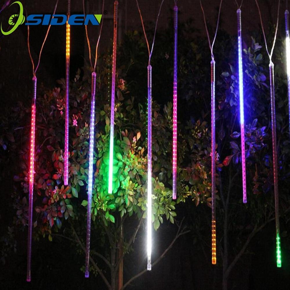 LED Meteor Duş Yağış İşıqları HuiHeng 50cm 8 Tube Duş Meteor - Bayram işıqlandırılması - Fotoqrafiya 4