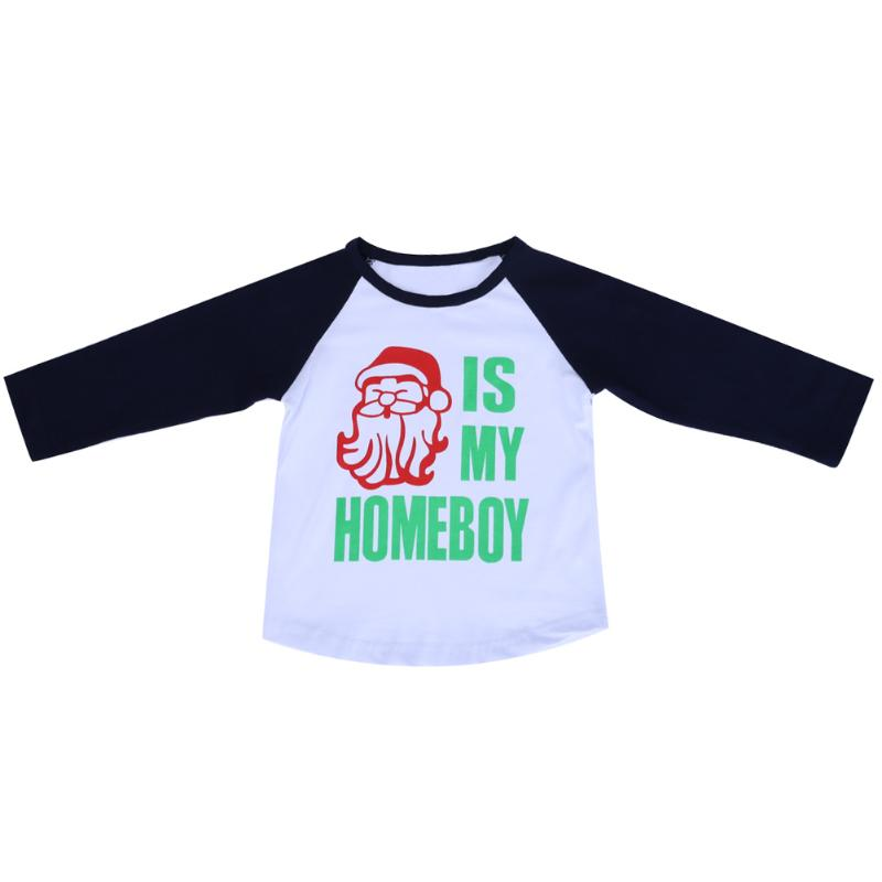 Baby Infant Boys Autumn Tops European Santa Claus Printed Long Sleeve Cotton T-Shirts Boys Sweatshirts Baby Clothing