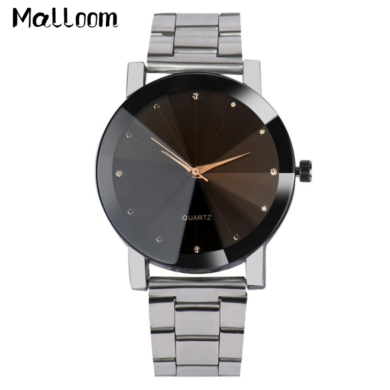 Brand Mens Stainless Steel Watches Women Fashion Analog Quartz Wrist Watch Men Lady Mesh Band Crystal Bracelet Watch Montre #LH skone fashion simple watches for women lady quartz wristwatch stainless steel band watch for woman relogio femininos