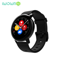 IWOWNFit Smart Watch Heart Rate Monitor Smartwatch Waterproof Color Screen Bluetooth Call Music Smart Watch Men