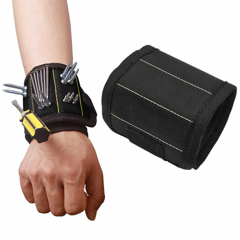 Auto Car Accessories Car trunk organizer Magnetic polyester bracelet portable tool bag electrician wristband screw repair tool