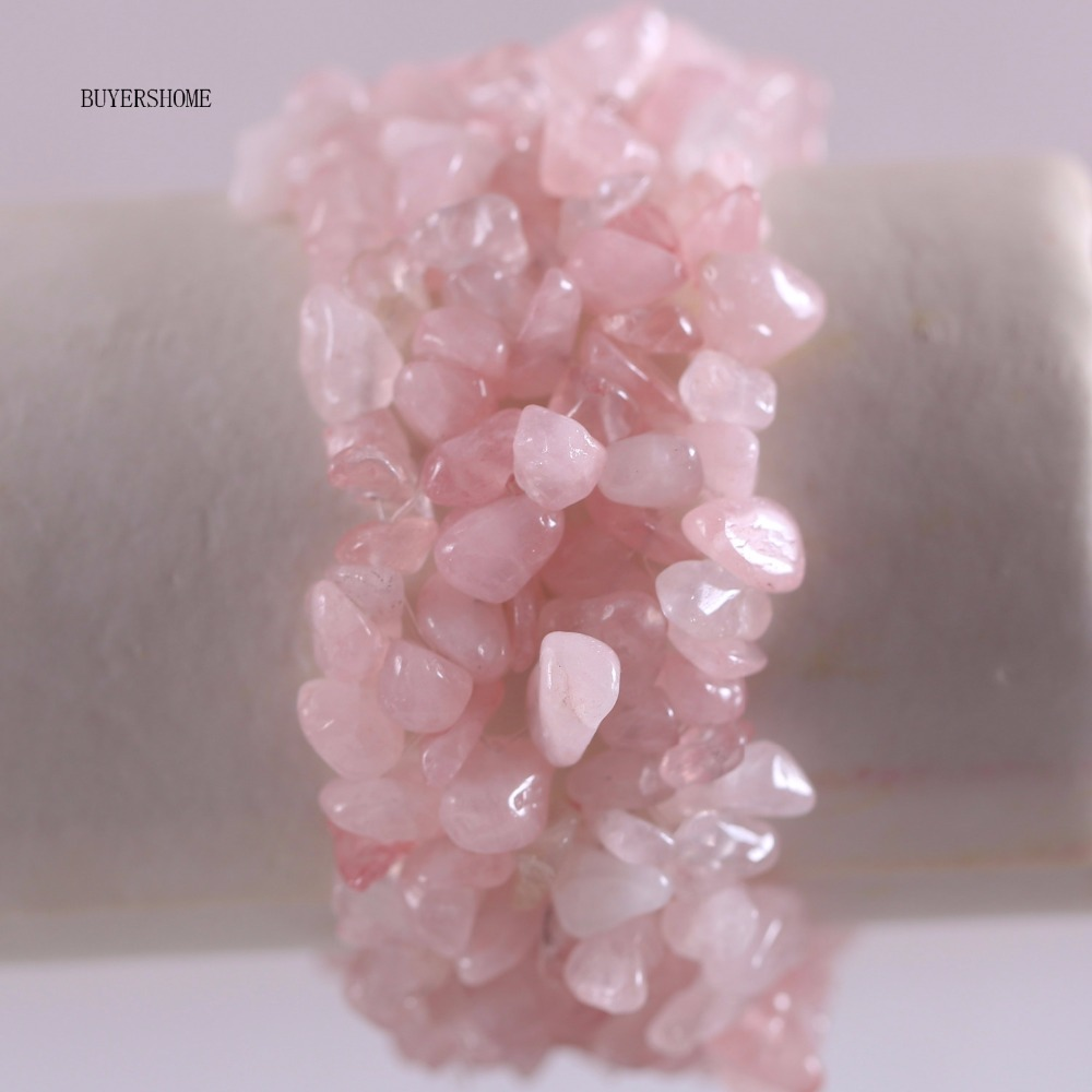 Free Shipping Fashion Jewelry Stretch Pink Crystal Weave Chip Bracelet 7 1Pcs H046