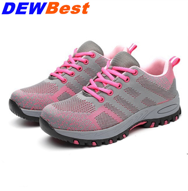 765ffa3d7d2 US $29.5 50% OFF|Steel Toe Safety Shoes Men Women Summer Breathable Mesh  Industrial & Construction Puncture Proof Work Shoes Protective Footwear-in  ...