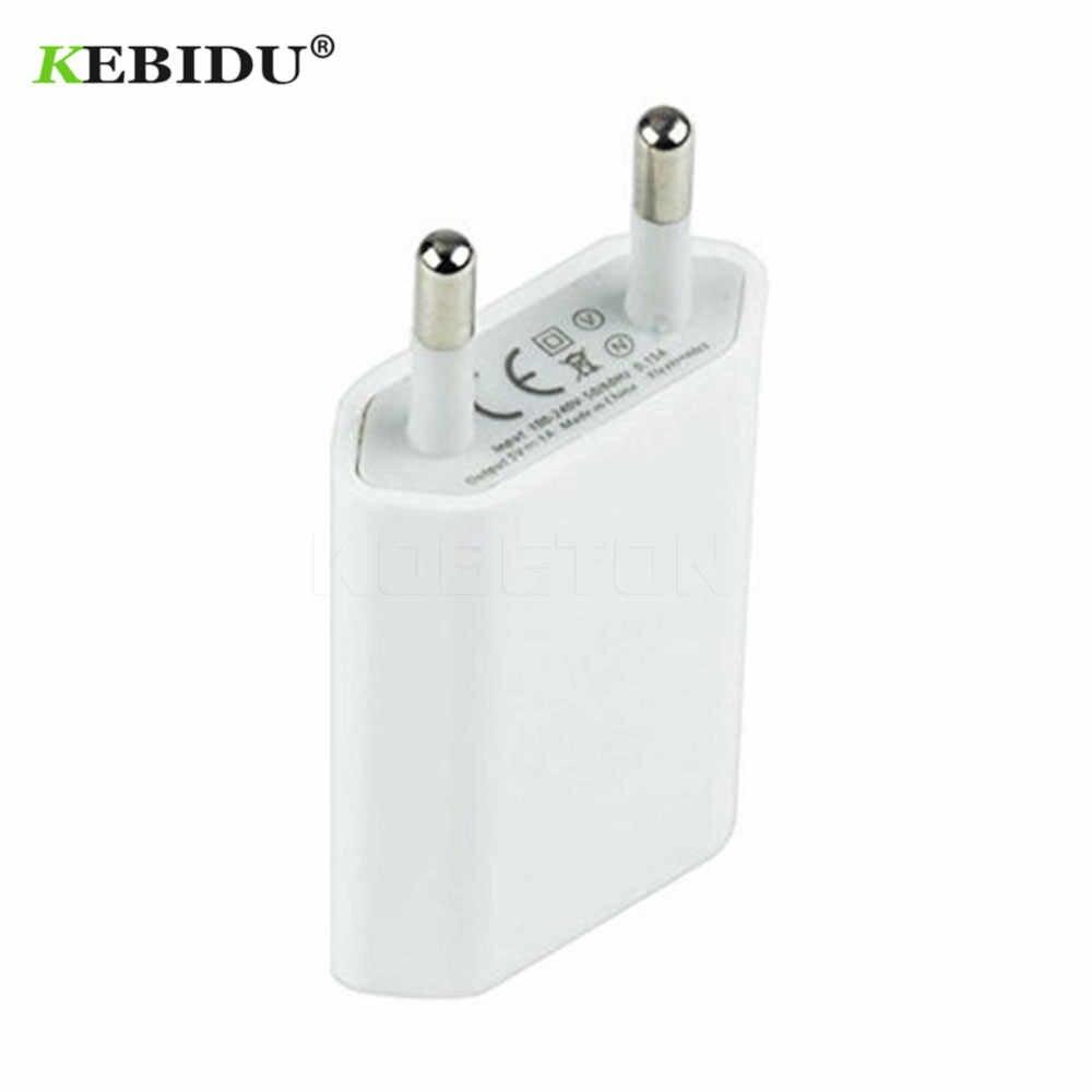 Kebidu ue/usa wtyczka USB ładowarka 5V AC ściana USB domowy zasilacz podróżny dla Apple iPhone 5 5S 5C 6 6S 7 dla iPhone USB ładowarka