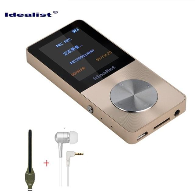 Marca Idealista De Metal MP3 MP4 Player 4 GB Vídeo Esporte MP4 Flash HIFI Mini MP4 MP4 Player De Vídeo Rádio de Música Fino Gravador Walkman