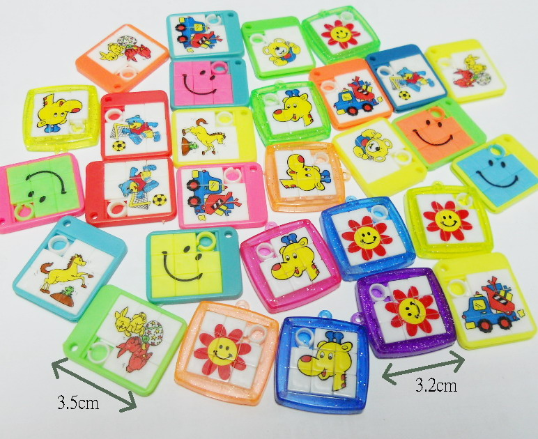100pc bulk mini slider puzzle charms for necklace pinata bag filler birthday party cake decoration gift loot favours gift toys