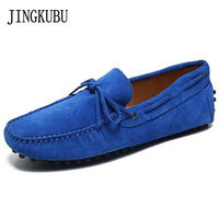 JINGKUBU 2017 New color Genuine Leather women flat shoes Brand Moccasins loafers Peas Shoes Fashion Casual shoes hot sell