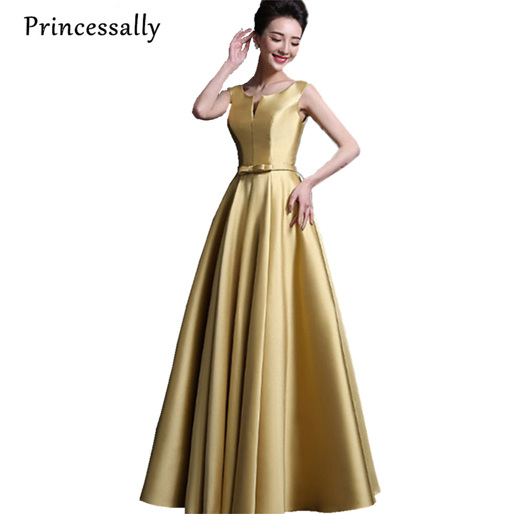 High Qulity Evening Dress Elegant Thick Stain Floor Length Sleeveless Long Bridal Banquet Formal Dresses Custom Made Party Gown