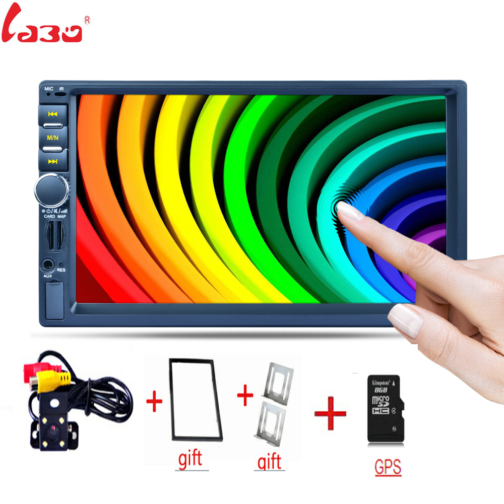 7 inch capacitive touch screen Bluetooth GPS Navigation Fast Charge Car Stereo Radio Video player Rear