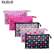 CLELO Make Up Pouch bag Clutch Handbag Purses Case Cosmetic Bags for Travel Toiletry Cosmetics Makeup Bag Organizer цены