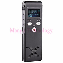 New Portable 8GB Steel Stereo Recording Mini Digital Voice Recorder Audio Recorder MP3 player DEC18 Top Quality Black
