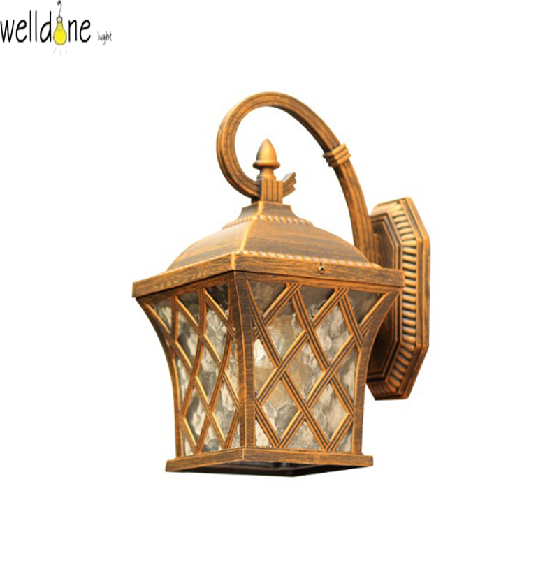 Фото LED water proof alluminum wall lamp copper color  for garden europea style good quality froe shinppig