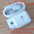 100% Original Adaptive Fast Charging 9V 1.8A Travel Charger + 1M Type-c Usb Data Cable For LG F700 H860N G5 nexus 5X