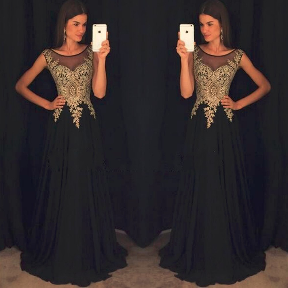 Popular Gold Black Prom Dress-Buy Cheap Gold Black Prom Dress lots ...