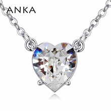 ANKA brand love heart crystal necklaces & pendant with Crystals from Swarovski jewelry for lover women necklace gift 123627(China)