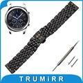 22mm de aço inoxidável watch band para samsung gear clássico s3/frontier butterfly fivela de liberação rápida alça de pulso pulseira cinto
