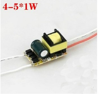 цена на 4-5x1w drive power led drive power e27 built-in power supply 5w cup bulb power supply 50pcs/lot wholesales