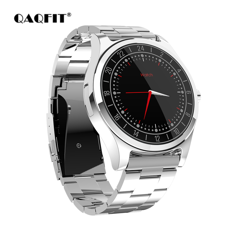 QAQFIT Smart Watch DT19 Luxury Full Stainless Steel Smart band Support Bluetooth Call Reminder Music Camera for Men Business