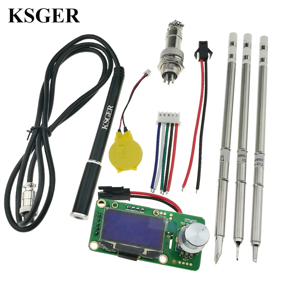KSGER T12 DIY Soldering Station OLED Kits STM32 V2 1S Solder Iron Tips Welding Tools Stainless