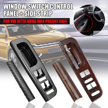 ABS de carbono para coche interruptor de la ventanilla principal Panel de Control de ajuste de bisel para Volkswagen/Passat/Jetta/Golf Mk4 1998-2004 3B1867171E