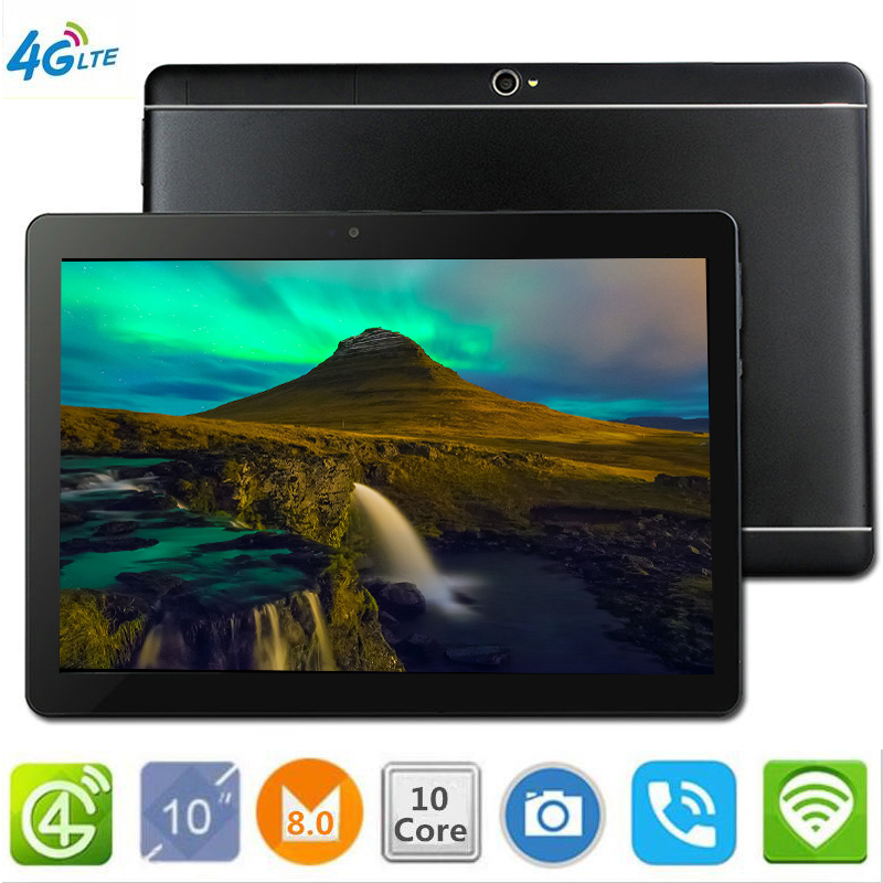 NEW CARBAYTA The Tablet  10.1' WIFI 10 Core 128GB ROM Dual Camera 8MP Android 8.0 Tablet PC 4G LTE GPS Bluetooth Phone MT6797