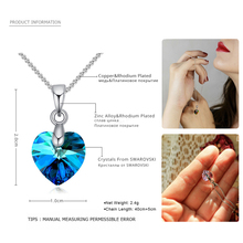 Best Heart Crystal Necklace Of the Ocean Fine Blue Cheap