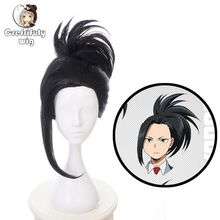 My Hero Academia Black Cosplay Wig Boku no Hiro Akademia Momo Yaoyorozu Synthetic Hair + Cap